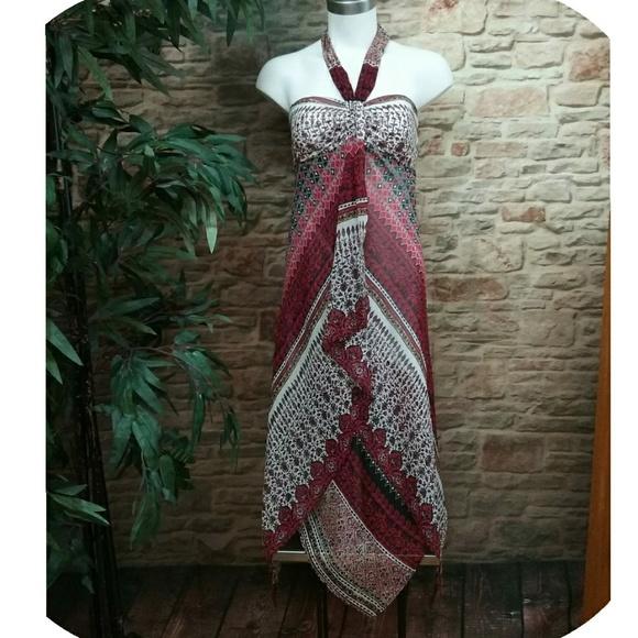 BCBG Paris Dresses & Skirts - BCBG Paris Layered Scarf Halter Dress
